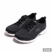 SKECHERS 女 健走鞋 GO WALK 6 黑白 網布-124512WBKW