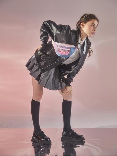 腰包 腰包女潮ins 原宿jk少女百搭小包 2021新款單肩斜挎胸包【快速出貨八折優惠】