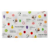 Marimo 日本製PP信封式票券收納夾 SNOOPY 水果 白_FT65412