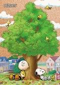 【拼圖總動員 PUZZLE STORY】大樹下 日本進口拼圖/Beverly/史努比 Snoopy/88P/軟木