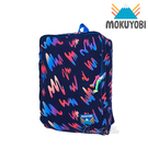 MOKUYOBI / Tucson Bag / L.A 空運繽紛隨性塗鴉風格印花旅行必備多功能筆電後背包 - 深藍色