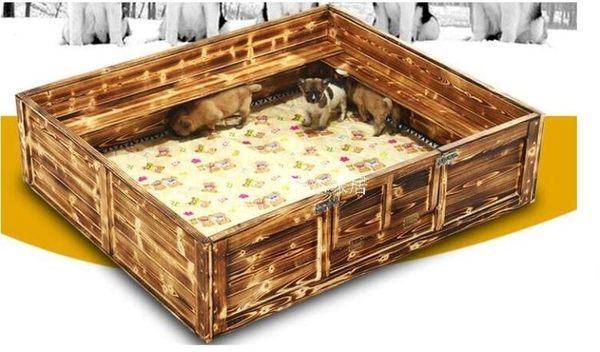 寵物產房-廠家直銷防壓大型寵物產房實木狗產床狗窩各類型幼崽窩 滿498元88折立殺