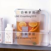 日式冷水壺家用大容量水杯果汁涼水壺耐高溫裝水泡茶壺塑料涼水壺【白嶼家居】