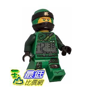 [8美國直購]LEGO 樂高 機器人鬧鐘 綠色 Ninjago Lloyd Minifigure(2018)9.5吋