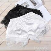 【2件裝】新款夏季打底褲防走光安全褲 絲光棉透氣蕾絲邊女士短褲-ifashion