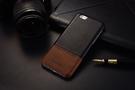 【默肯國際】KEZiHOME 復古系列 iPhone 6/6s(4.7) 6/6s+(5.5) 單底背蓋 超薄 撞色 拼接 真皮手機保護殼