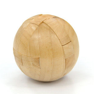 具 木制精品 圓球孔明鎖魯班鎖 孔明球 智力玩具