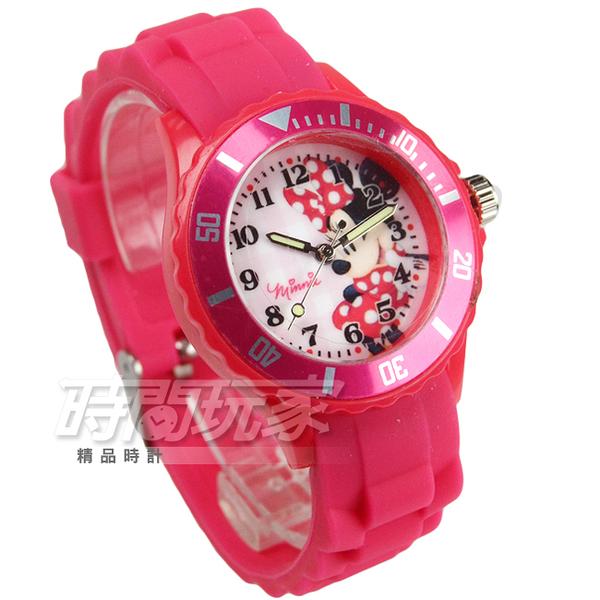 Disney 迪士尼 MICKEY MOUSE 米妮卡通手錶 兒童手錶 夜光指針 桃紅 DU7-3203米妮
