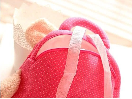 【發現。好貨】咪兔metoo安吉拉鼓眼動物後背包 雙肩包 兒童背包 可愛背包 禮物 手提袋