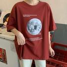 大尺碼上衣 網紅港風短袖t恤女日系2020韓版寬鬆ins超火原宿風港味chic服