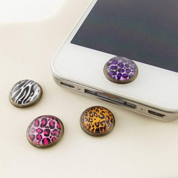 Miravivi iPhone/ iPad/ iPod 復古動物紋立體home鍵貼/按鍵貼/裝飾貼