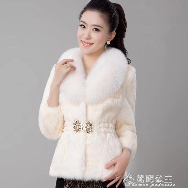 皮草外套皮草外套女新款秋冬季韓版仿獺兔毛狐貍毛領短款修身大衣清 快速出貨
