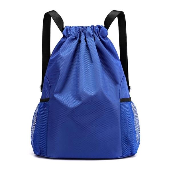 束口袋雙肩包男女2020新款簡易旅行背包大容量抽繩健身運動籃球包 夢幻小鎮