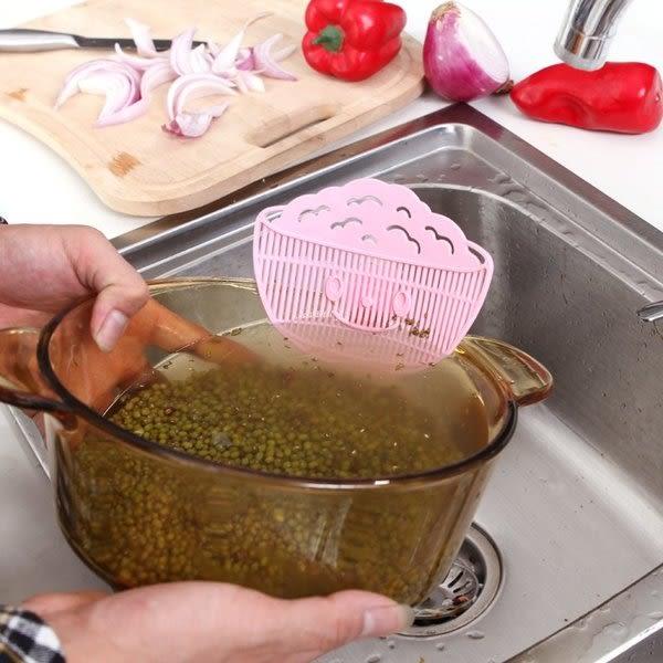 ✭米菈生活館✭【L121】可夾式洗米濾水器 五穀雜糧清洗器 過濾器 濾水器 廚房創意洗米器 掏米器