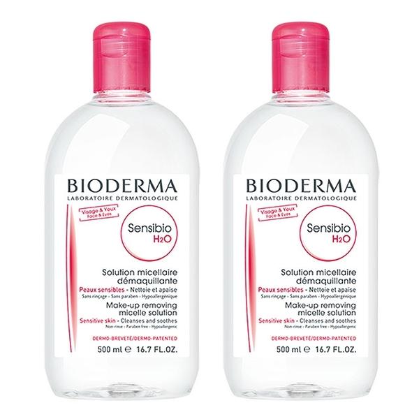 BIODERMA 貝膚黛瑪(原 貝德瑪 )舒敏高效潔膚液 500ml 二件組( 改2單瓶) 效期2022.12 公司貨 【淨妍美肌】