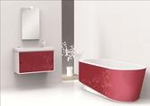【麗室衛浴】 新品上市  美國KOHLER 橢圓形無縫玫瑰色裙邊獨立式浴缸 K-45723T-FZ