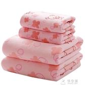 浴巾1浴巾1毛巾超強吸水大浴巾比純棉全棉柔軟成人男女洗臉家用速 俏女孩