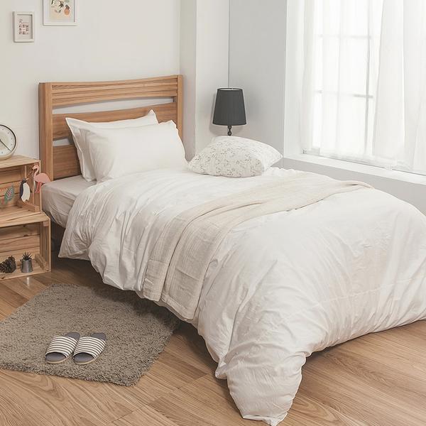 床包被套組 / 雙人【簡單生活-淺系列-多色可選】含兩件枕套 100%精梳棉 戀家小舖台灣製AAA212
