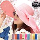 超大帽簷韓版造型草帽.抗UV太陽帽防紫外...