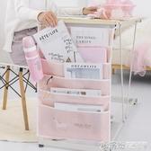 書桌課桌神器書掛袋中學生桌邊收納袋簡約少女大容量高中生掛書袋 繽紛創意家居