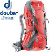 Deuter 34254(34251)-紅/灰 Futura 32L網架直立式透氣背包