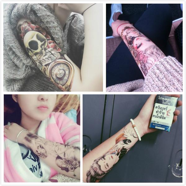 限定款刺青貼紙【10張套组】刺青貼 花臂刺青貼紙 男女防潑水個性仿真手臂刺青圖騰