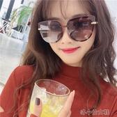 新款太陽眼鏡女粉茶色大框墨鏡大臉偏光防紫外線ins眼鏡 洛小仙女鞋