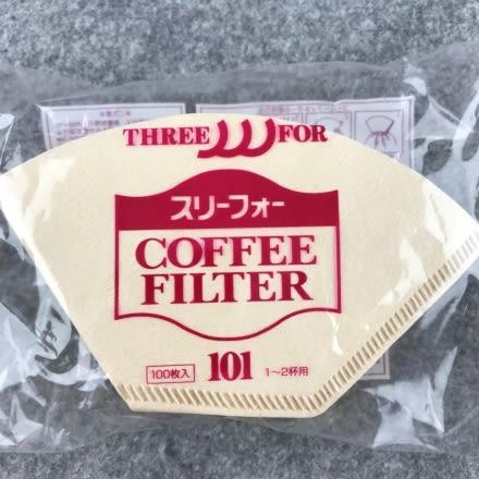 日本製 三洋濾紙 咖啡濾紙 無漂白扇形濾紙 G101 /G102 適用三洋濾杯 100入一包