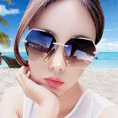 太陽鏡-沙灘墨鏡女旅游海邊度假抖音款無框韓版潮小臉 花間公主