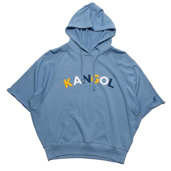 KANGOL 短袖 短T 寬版 天藍 彩字 休閒 女 (布魯克林) 6122105081
