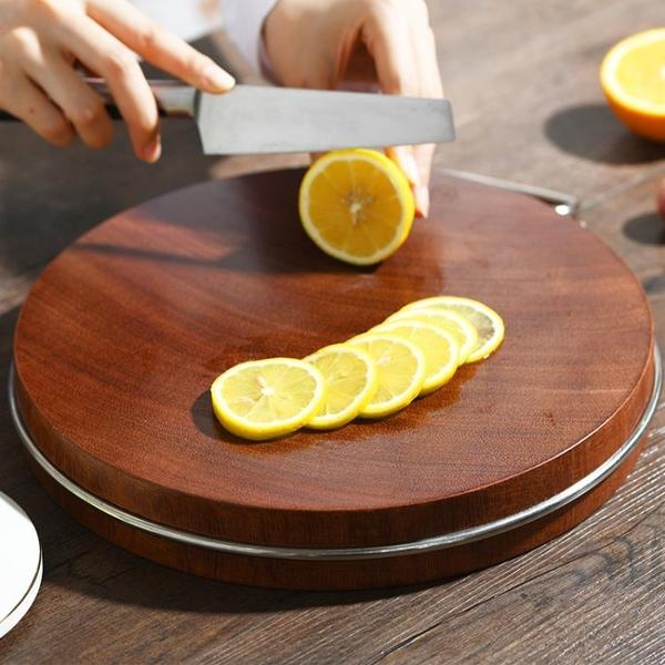 進口鐵木砧板菜板實木家用切菜板廚房案板圓形砧板整木菜墩 1995生活雜貨