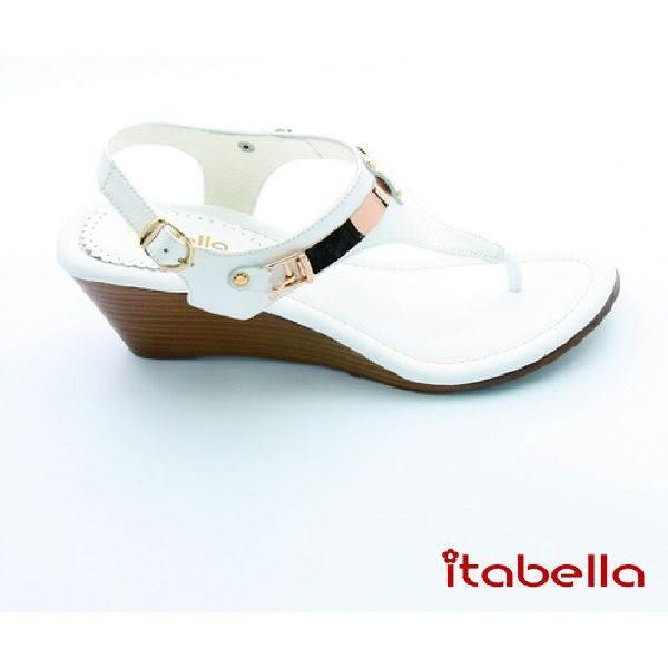 本週下殺★2016新品★itabella.戀夏時尚風 細緻典雅夾腳涼鞋(白色)