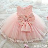 花童禮服 連身裙正韓寶寶洋氣公主裙子兒童蓬蓬紗