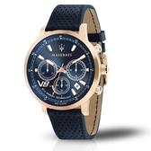 MASERATI 瑪莎拉蒂 GT 藍三眼日期腕錶44mm(R8871134003)