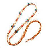 女波西米亞繩編織細腰帶裝飾 民族風洋裝子打結流蘇腰錬腰繩子  遇見生活