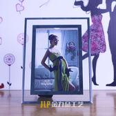 明水晶玻璃擺台像框亞克力證書相框5寸6寸7寸8寸10寸12寸A4照片
