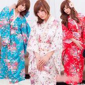 仙仙小舖 YA0044 白/紅/藍 京都物語 和服角色扮演 尾牙 女僕 護士服