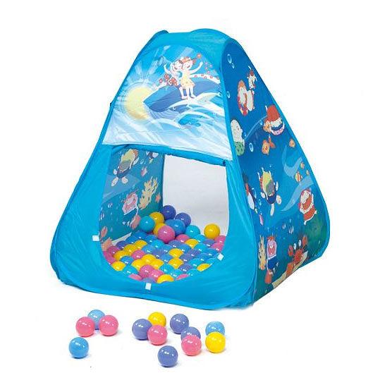 親親 三角帳篷折疊遊戲球屋+送100顆彩色球(彩盒裝)