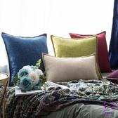 抱枕 木紋感棉麻北歐抱枕靠墊沙發靠枕臥室床頭靠背抱枕套不含芯 點點服飾
