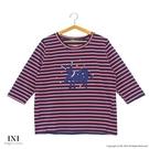 【南紡購物中心】【INI】休閒實穿、線條色彩好感上衣.紅色