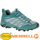 MERRELL 美國 MOAB FST 女 防水戶外多功能健行鞋『藍綠』 37560  機能鞋│休閒鞋│登山│戶外