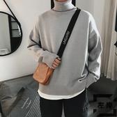 純色高領毛衣男大碼針織衫胖子韓版百搭外套【左岸男裝】