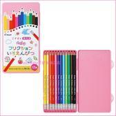 asdfkitty可愛家☆PILOT粉盒12色魔擦色鉛筆/彩色鉛筆組-盒裝-日本製