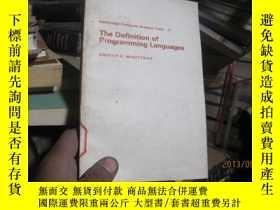 二手書博民逛書店7803罕見definition of programming