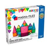 Magna-Tiles 彩色透光磁力積木32片|磁性積木