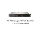 HPE ProLiant DL20 Gen10 2.5吋熱抽4SFF(SAS)伺服器(P06963-B21)【Intel Xeon E-2244G / 8G*1 / E208i實體Raid卡】