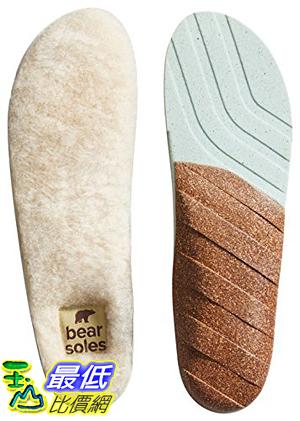 [美國直購] Honey Soles 羊毛暖暖鞋墊 (SIZE G, Men s 13.5 - 15 USA) Bear Natural Sheepskin Insoles