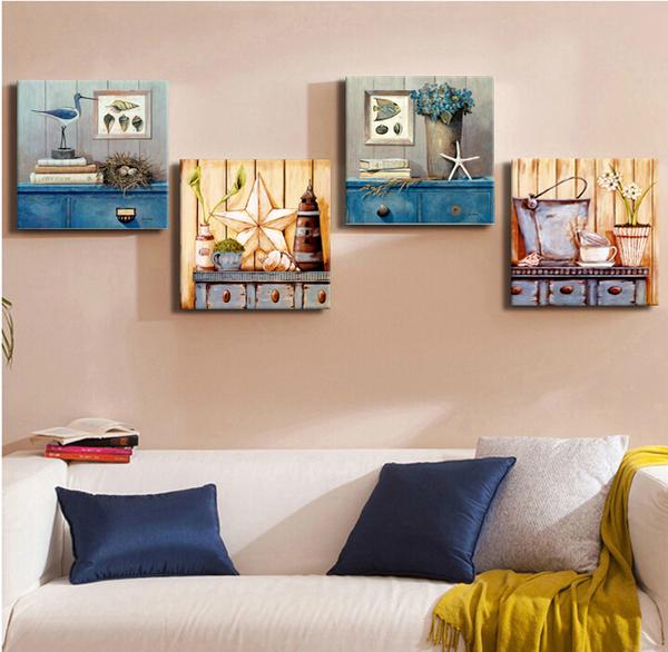 30*30cm壁畫客廳裝飾畫無框畫抽象壁畫歐式掛畫【步行者戶外生活館】
