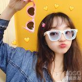 墨鏡 拉面丸子店鋪可愛墨鏡夏季韓國愛心墨鏡顯臉小情侶炫酷女太陽眼鏡  『優尚良品』