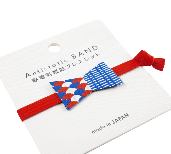 〔APM飾品〕日本apm嚴選 刺繡蝴蝶結防靜電手環 (紅色) (螢光黃) (螢光橘) (淺藍色)